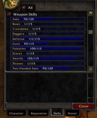 Classic WoW Weapon Skills - Guides - Wowhead