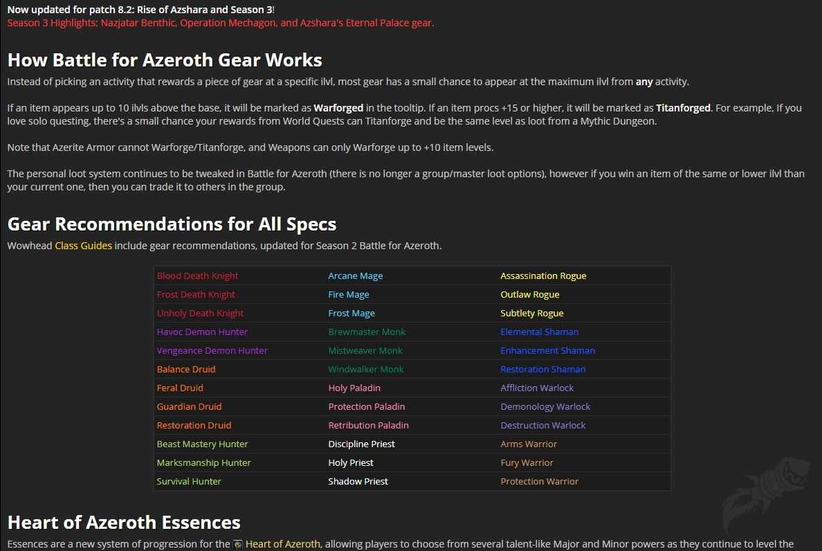 Gearing Up In Battle For Azeroth Guides Wowhead