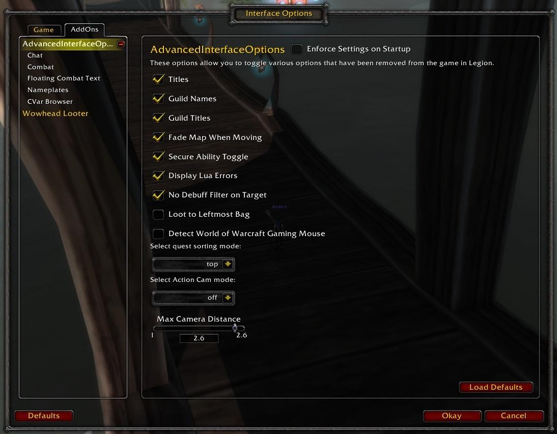 WoW Classic Addon Spotlight: Advanced Interface Options