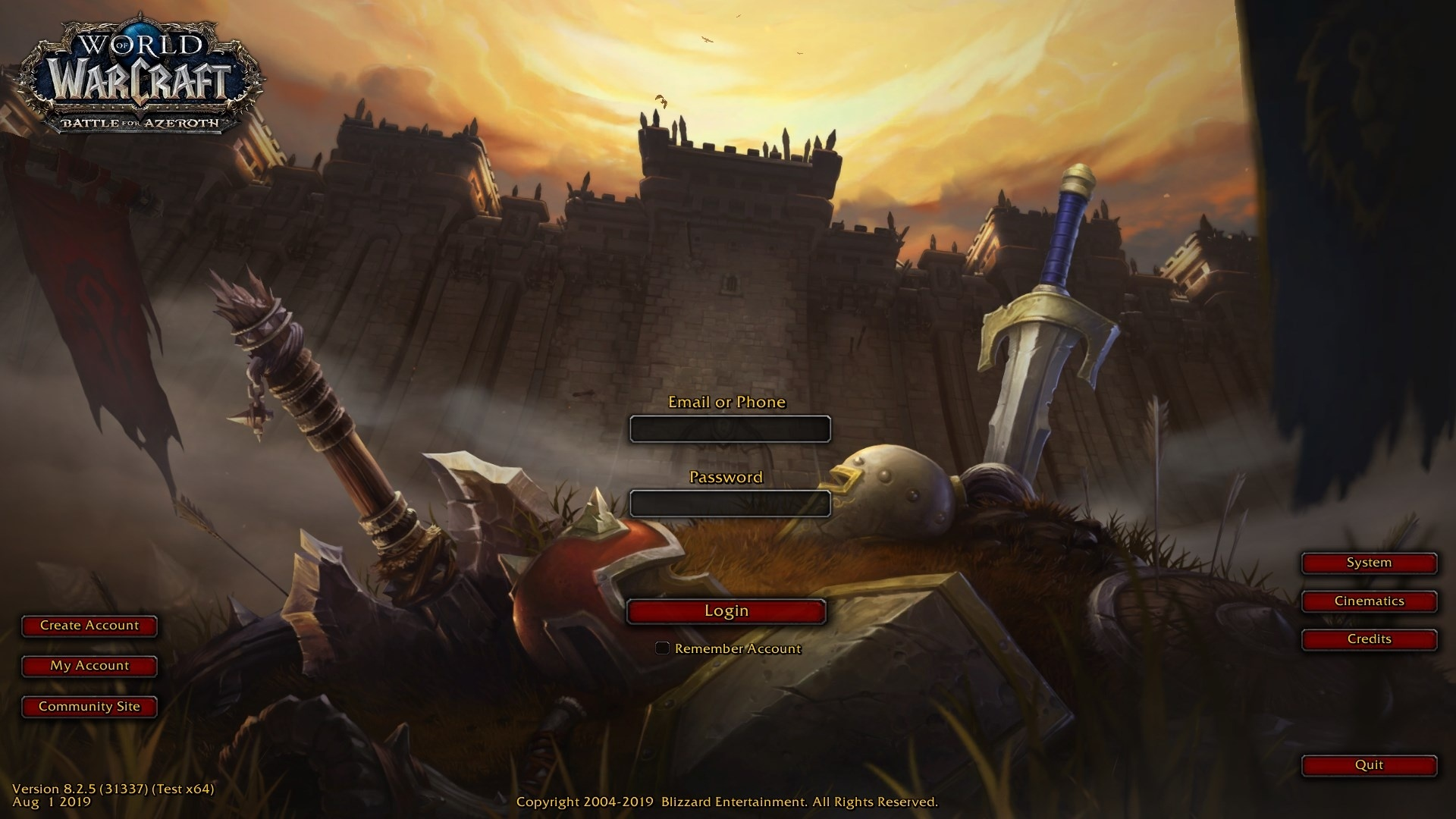 PTR Patch 8 2 5 Build 31337 - Log in to WoW With Your Phone
