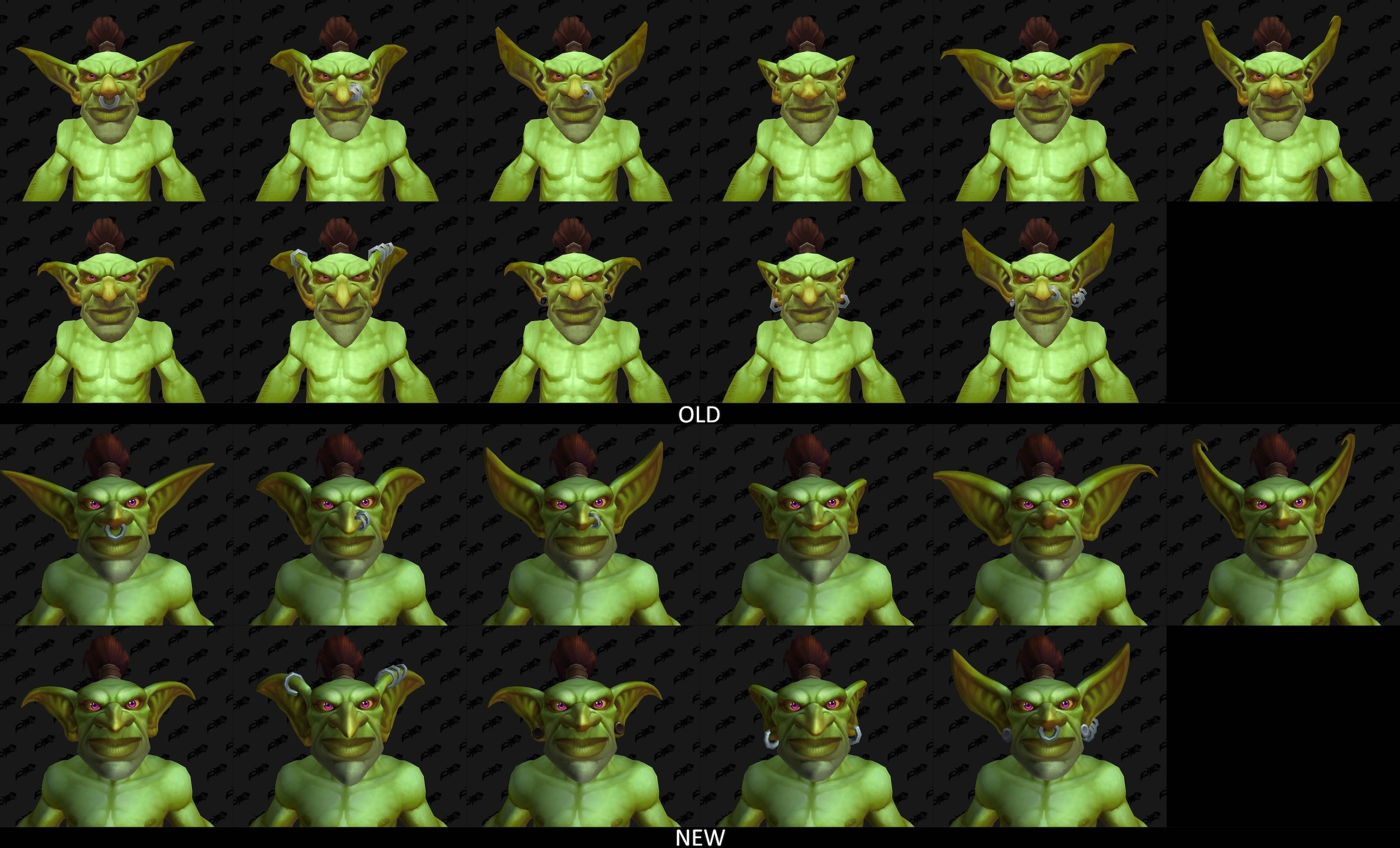Updated Goblin Models in Patch 8 2 5 - Comparison with Old