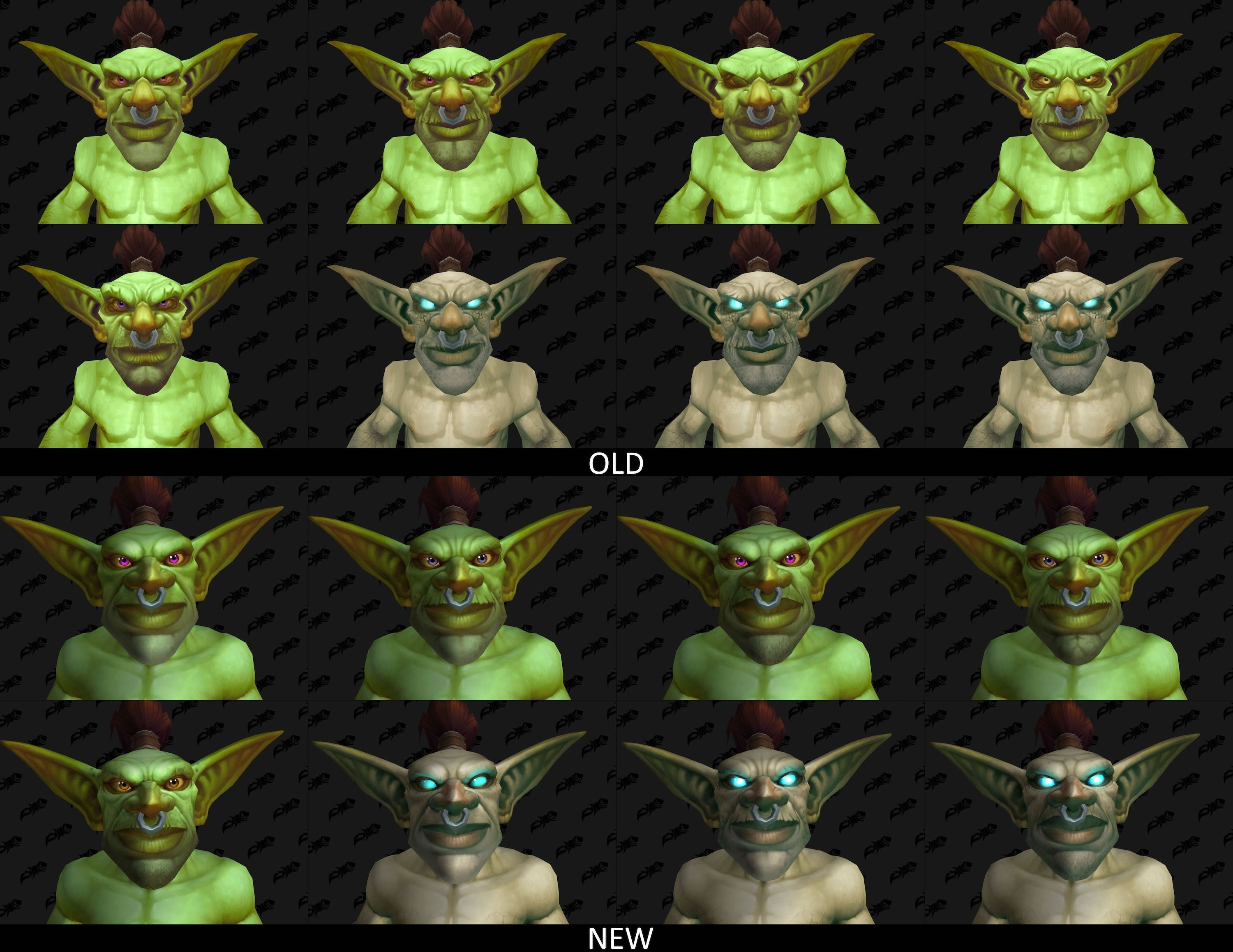 Updated Goblin Models in Patch 8 2 5 - Comparison with Old Models