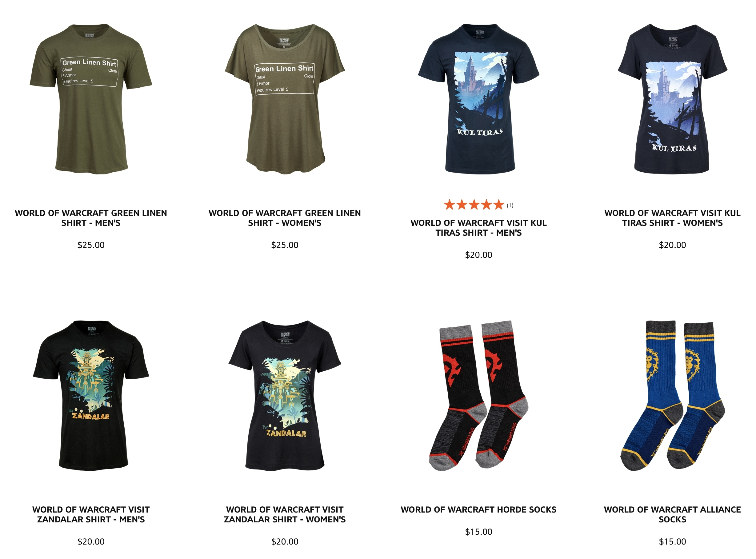 World of Warcraft 15th Anniversary Merchandise Collection on Gear