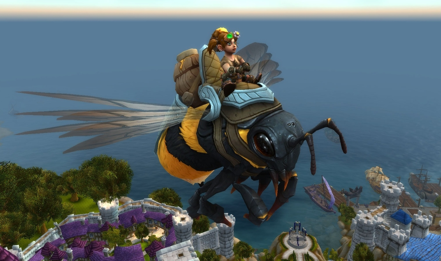 WoW BFA Mount Boost Honeyback Harvester Flying Mount Exalted Reputation Leveling