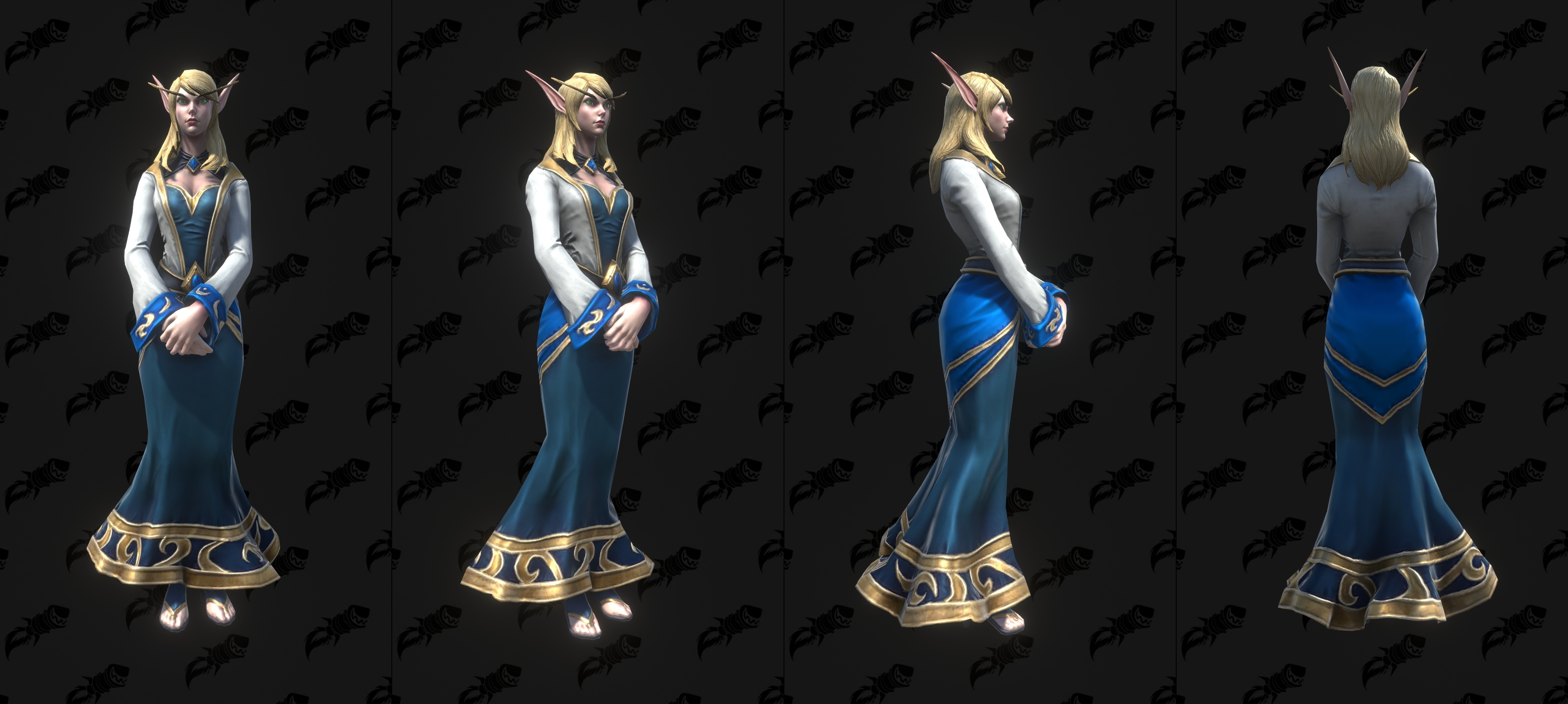 Warcraft Iii Reforged High Elf And Blood Elf Models Sylvanas