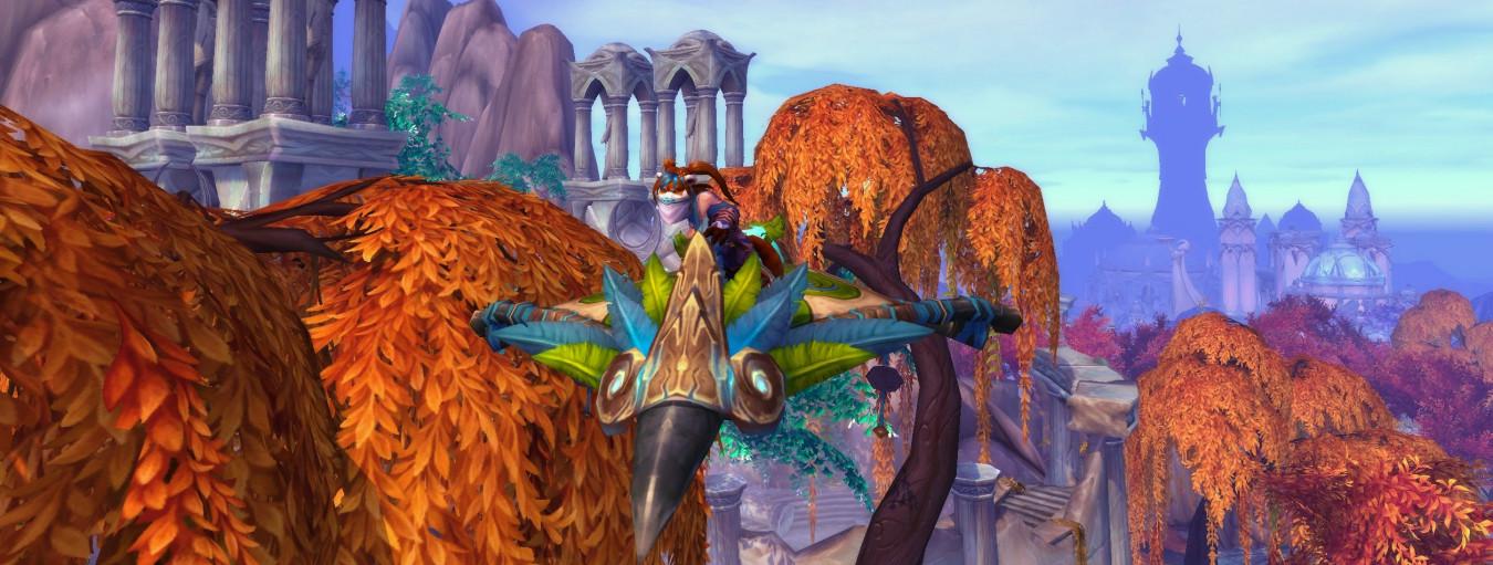 Полет, верховая езда в Shadowlands