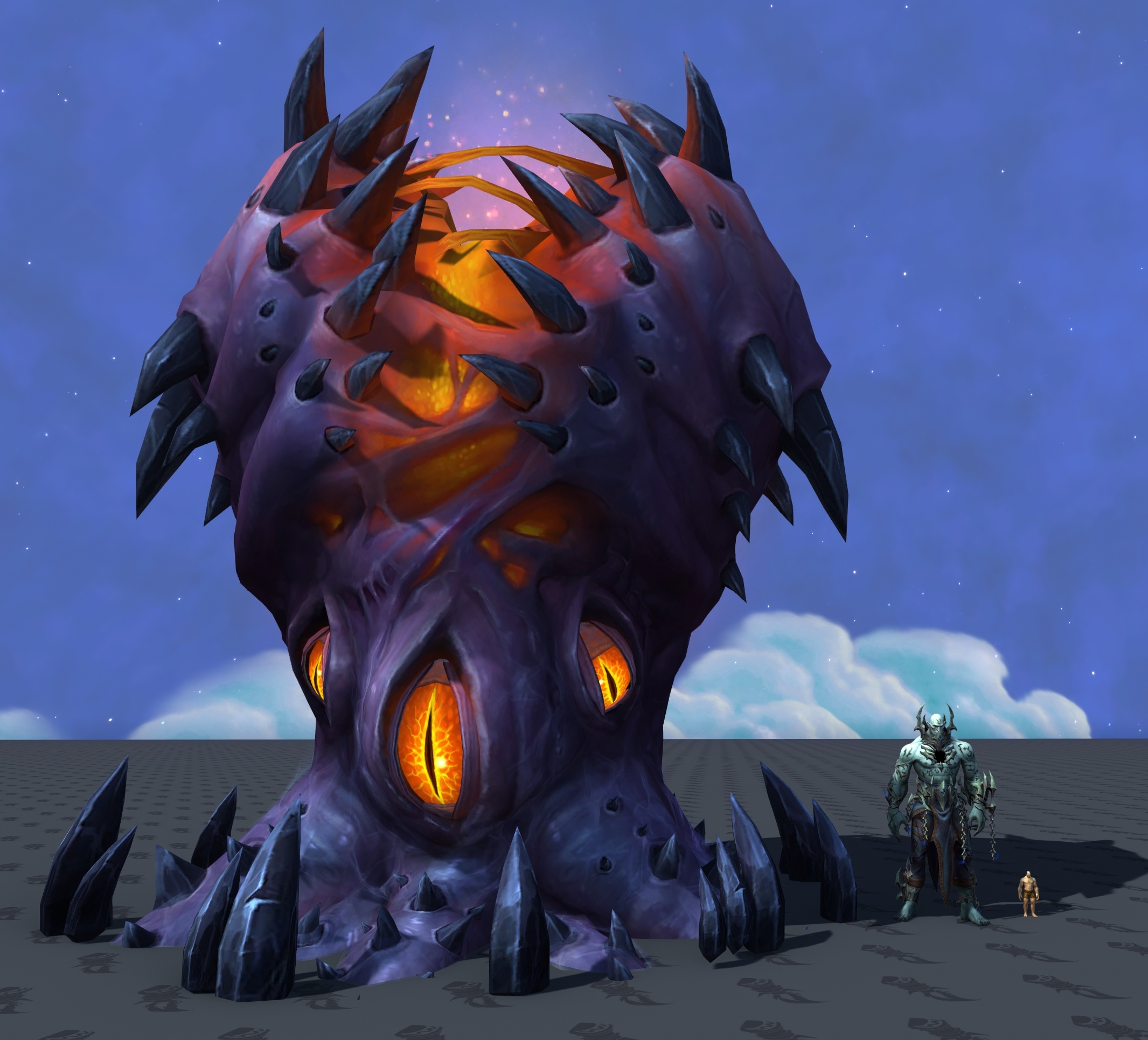 Настоящая модель Тюремщика из Темных Земель Shadowlands