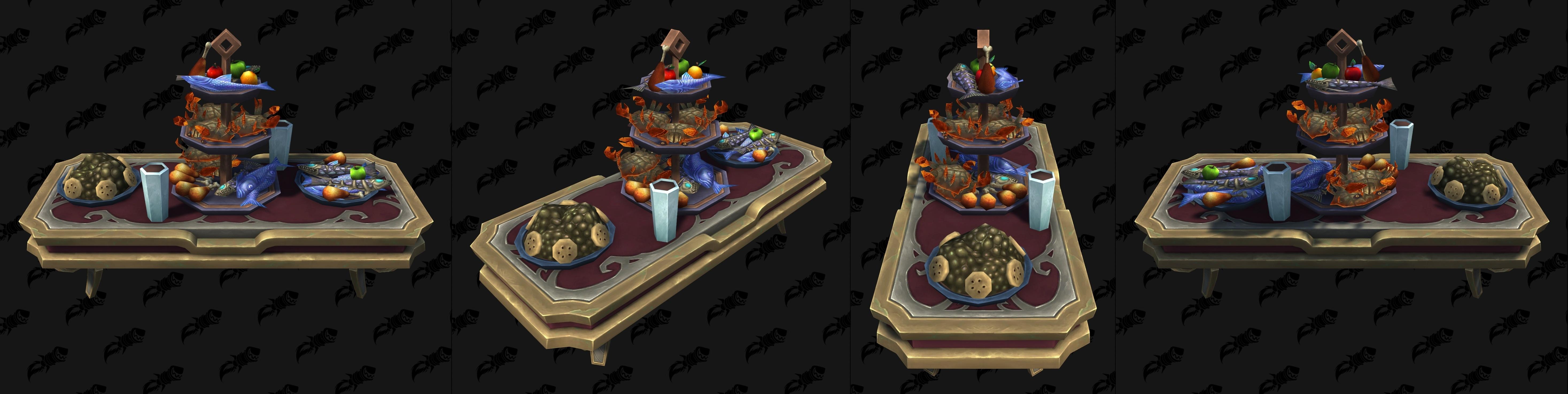 Кухня Shadowlands, Еда Души и модели пиров