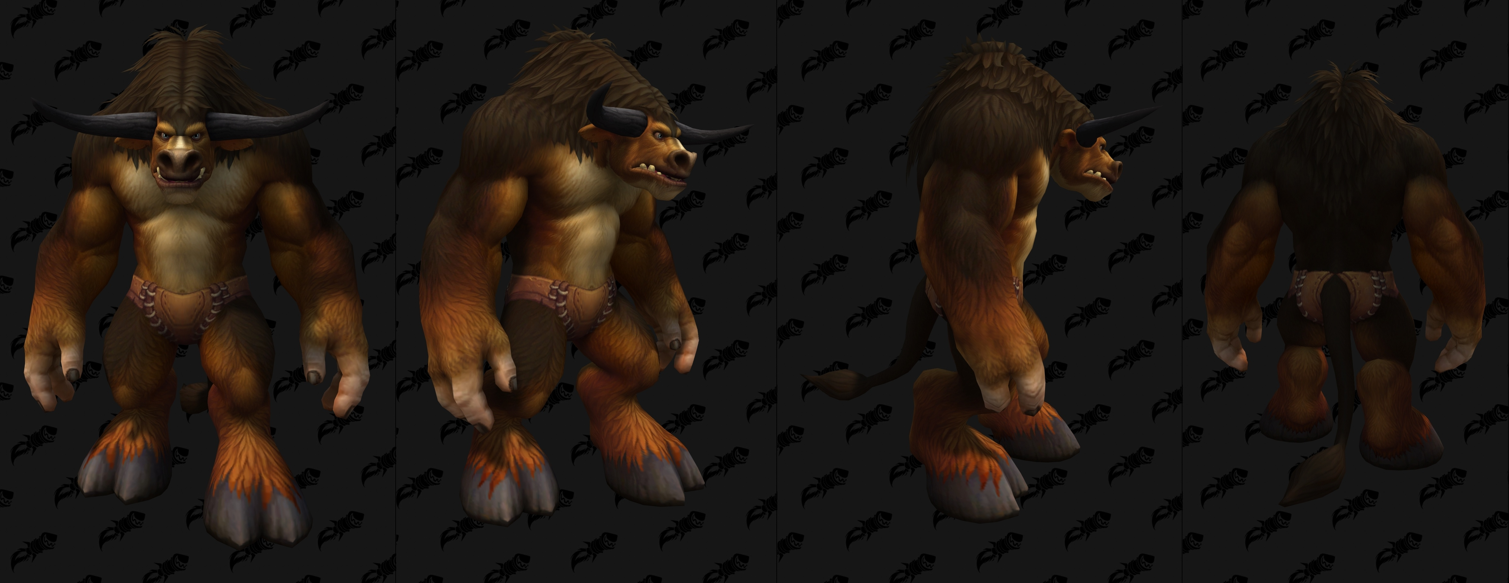 New Male Tauren Shadowlands Customizations Fur Colors Body And Face Paints Wowhead News
