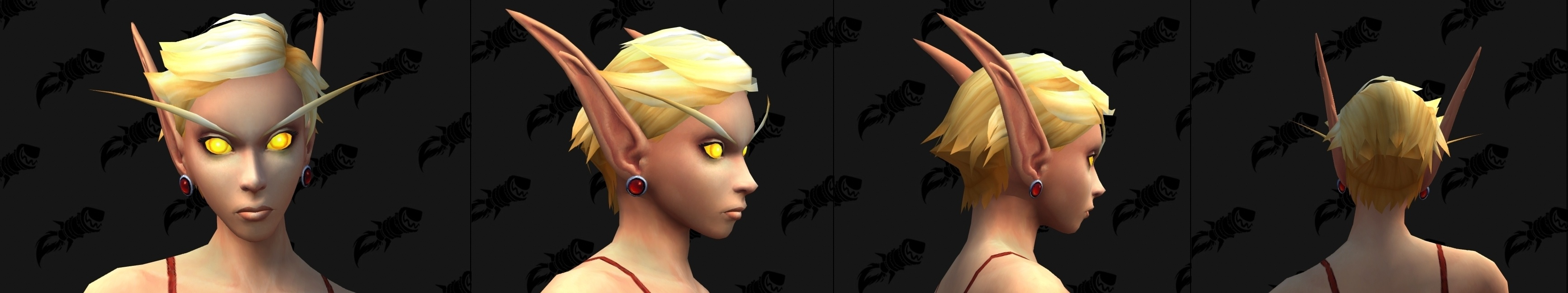 New Blood Elf Female Character Customizations - Necklaces, Hairstyles,  Earrings, Ear Size - Notícias do Wowhead