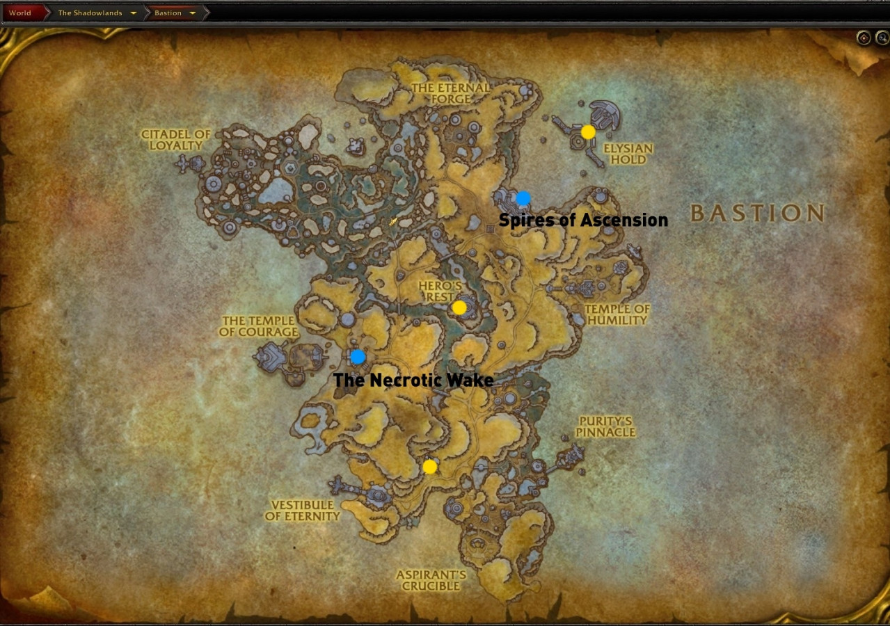 Бастион - Карта, Задания и NPC