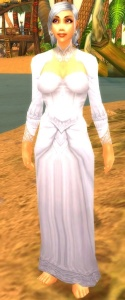 Pattern White Wedding Dress