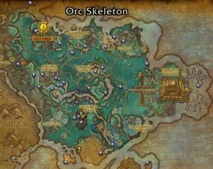 Carte Au Tresor Bfa.Shadowmoon Valley Treasure Map Objet World Of Warcraft