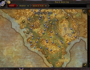 Carte Au Tresor Bfa.Spires Of Arak Treasure Map Objet World Of Warcraft