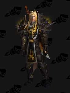 Blood Elf Warrior Outfit World Of Warcraft
