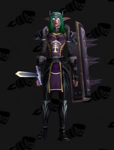 Darnassus Warrior Outfit World Of Warcraft