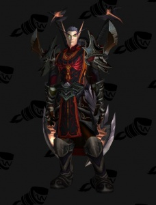 Blood Elf Warrior Fury Outfit World Of Warcraft