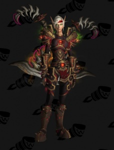 Blood Elf Warrior 1 Outfit World Of Warcraft