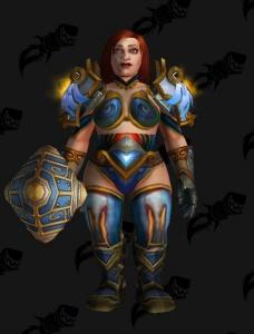 Alliance Blue Dwarf Warrior Outfit World Of Warcraft