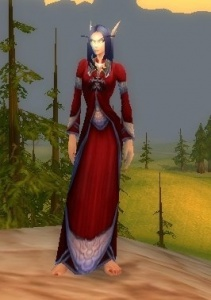 Purpurrote Seidenrobe Gegenstand World Of Warcraft