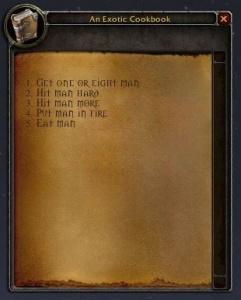 Un Livre De Cuisine Exotique Objet World Of Warcraft